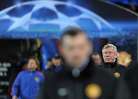 FUSSBALL   CHAMPIONS LEAGUE   SAISON 2011/2012     23.11.2011 FC Basel - Manchester United Trainer Sir  Alex  Ferguson  (Manchester United FC)