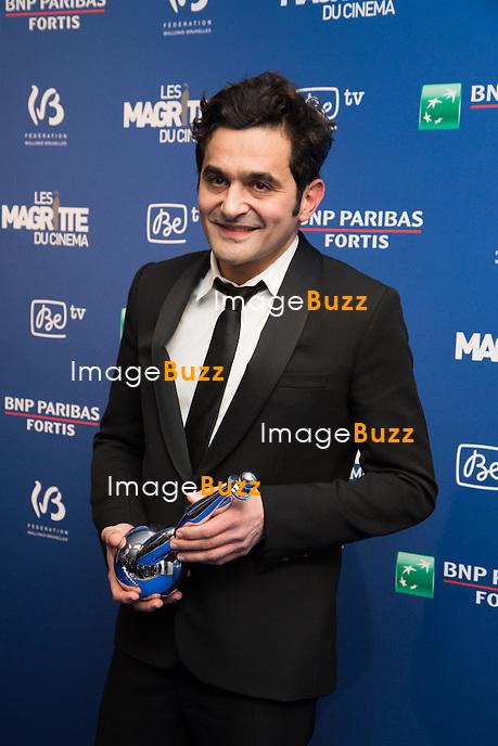 Laurent Capelluto ( Meilleur acteur  second r&ocirc;le ) - Sixi&egrave;me c&eacute;r&eacute;monie des Magritte du cin&eacute;ma, qui r&eacute;compensent le septi&egrave;me art belge, au Square, &agrave; Bruxelles.<br /> Belgique, Bruxelles, 6 f&eacute;vrier 2016.<br /> Sixth edition of the Magritte du Cinema awards in Brussels.<br /> Belgium, Brussels, 7 February 2016