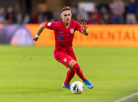 WASHINGTON, DC - OCTOBER 11: Tyler Boyd #21 of the United States dribbles forward during a game between Cuba and USMNT at Audi Field on October 11, 2019 in Washington, DC.