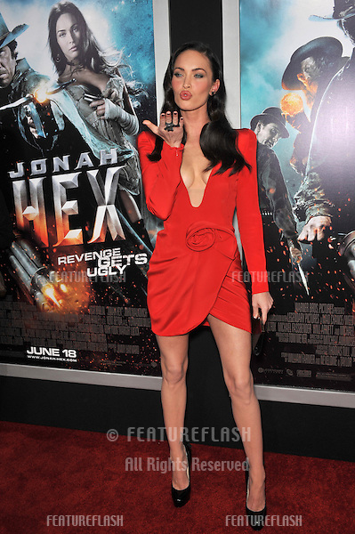 """Megan Fox at the Los Angeles premiere of her new movie """"Jonah Hex"""" at the Cinerama Dome, Hollywood..June 17, 2010  Los Angeles, CA.Picture: Paul Smith / Featureflash"""