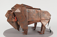 Origami bison designed by John Montroll and folded by Dan Cohn.