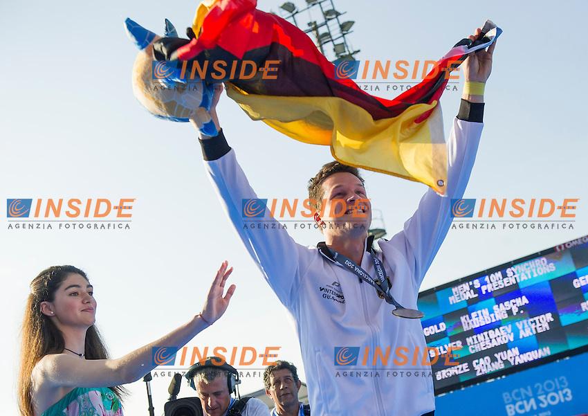 Patrick Hausding and Sascha Klein GER gold medal<br /> Men's 10m synchro platform  preliminaries<br /> 15th FINA World Aquatics Championships<br /> Barcelona 19 July - 4 August 2013<br /> Piscina Municipal de Montjuic, Barcelona (Spain) 21/07/2013 <br /> &copy; Giorgio Perottino / Deepbluemedia.eu / Insidefoto