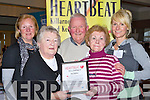 Heartbeat Killarney members l-r: Eileen McSparron, Marie Leane, Billy O'Sullivan, Mary McCarthy and Edele Daly at the Health Awareness evening in the Killarney Heights Hotel on Monday evening