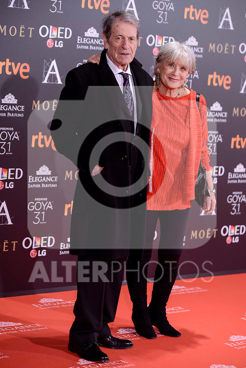 Jose Manuel Cervino and Maite Blasco attends to the Red Carpet of the Goya Awards 2017 at Madrid Marriott Auditorium Hotel in Madrid, Spain. February 04, 2017. (ALTERPHOTOS/BorjaB.Hojas)