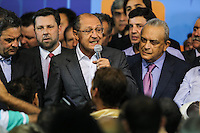 SAO PAULO, SP, 25 DE MARCO 2013 - CONVENÇÃO ESTADUAL DO PSDB - O governador de Sao Paulo Geraldo Alckmin  durante Conveção estadual do PSDB-SP  na noite desta segunda-feira. 25 no sede do partido na regiao sul da cidade de Sao Paulo. FOTO: WILLIAM VOLCOV - BRAZIL PHOTO PRESS