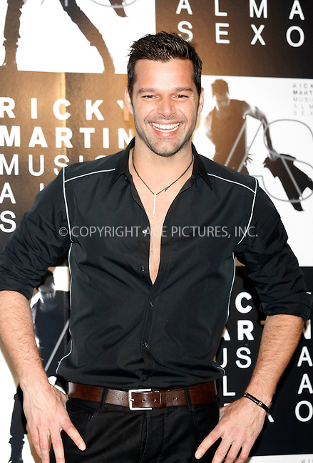 WWW.ACEPIXS.COM . . . . .  ..... . . . . US SALES ONLY . . . . .....Februay 21 2011, Madrid....Ricky Martin promoting his new album on February 21 2011 in Madrid....Please byline: FAMOUS-ACE PICTURES... . . . .  ....Ace Pictures, Inc:  ..Tel: (212) 243-8787..e-mail: info@acepixs.com..web: http://www.acepixs.com