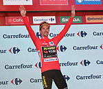 Race leader Primoz Roglic (SLO) Team Jumbo-Visma retains the Red Jersey at the end of Stage 14 of La Vuelta 2019  running 188km from San Vicente de la Barquera to Oviedo, Spain. 7th September 2019.<br /> Picture: Karlis | Cyclefile<br /> <br /> All photos usage must carry mandatory copyright credit (© Cyclefile | Karlis)