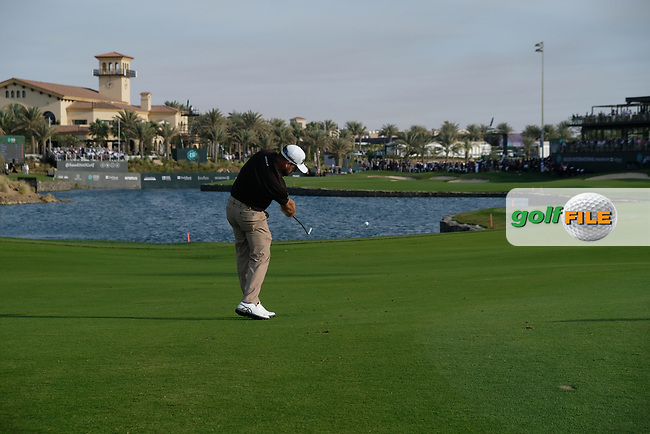 Graeme McDowell (NIR) \playing his second shot into 18 during the final round of  the Saudi International powered by Softbank Investment Advisers, Royal Greens G&CC, King Abdullah Economic City,  Saudi Arabia. 02/02/2020<br /> Picture: Golffile | Fran Caffrey<br /> <br /> <br /> All photo usage must carry mandatory copyright credit (© Golffile | Fran Caffrey)