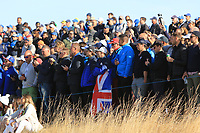 Watching at the 12th tee during Saturday Foursomes at the Ryder Cup, Le Golf National, Ile-de-France, France. 29/09/2018.<br /> Picture Thos Caffrey / Golffile.ie<br /> <br /> All photo usage must carry mandatory copyright credit (© Golffile | Thos Caffrey)