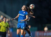 Seattle, WA - Saturday July 22, 2017: Christine Nairn, Raquel Rodriguez during a regular season National Women's Soccer League (NWSL) match between the Seattle Reign FC and Sky Blue FC at Memorial Stadium.