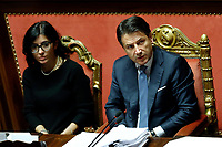 Fabiana Dadone and Giuseppe Conte <br /> Rome December 12th 2019. Speech of the Italian Premier about MES, European Stability Mechanism.<br /> Foto Samantha Zucchi Insidefoto