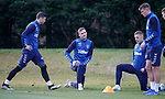 22.11.2019 Rangers training: Matt Polster, Andy King, Greg Docherty and Lewis Mayo