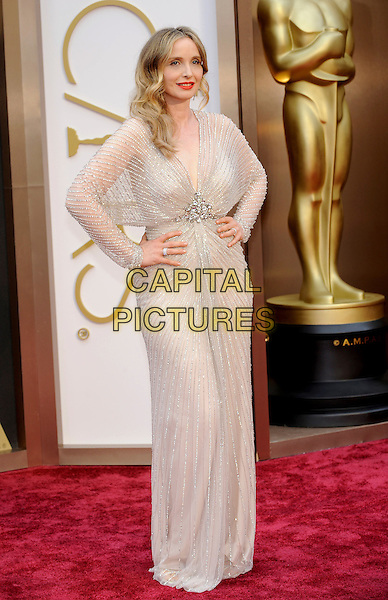 HOLLYWOOD, CA - MARCH 2: Julie Delpy arriving to the 2014 Oscars at the Hollywood and Highland Center in Hollywood, California. March 2, 2014. <br /> CAP/MPI/COR<br /> &copy;Corredor99/ MediaPunch/Capital Pictures