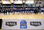 The St Kentigern team line up before the 2019 Schick AA Boys' Secondary Schools Basketball National Championship final between St Kentigern and Rosmini College at the Central Energy Trust Arena in Palmerston North, New Zealand on Saturday, 5 October 2019. Photo: Dave Lintott / lintottphoto.co.nz
