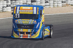 Portuguese driver Eduardo Rodrigues belonging Portuguese team Eduardo Rodrigues during the third race R3 of the XXX Spain GP Camion of the FIA European Truck Racing Championship 2016 in Madrid. October 02, 2016. (ALTERPHOTOS/Rodrigo Jimenez)