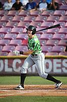 Brandon Hughes (36) of the Eugene Emeralds bats against the Salem-Keizer Volcanoes at Volcanoes Stadium on July 24, 2017 in Keizer, Oregon. Eugene defeated Salem-Keizer, 7-6. (Larry Goren/Four Seam Images)