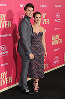 """14 June 2017 - Los Angeles, California - Ansel Elgort, Lily James. Los Angeles Premiere of """"Baby Driver"""" held at the Ace Hotel Downtown in Los Angeles. Photo Credit: Birdie Thompson/AdMedia"""