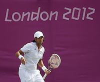 Fernando Verdasco - Spain..Tennis - OLympic Games -Olympic Tennis -  London 2012 -  Wimbledon - AELTC - The All England Club - London - Saturday 28th June  2012. .© AMN Images, 30, Cleveland Street, London, W1T 4JD.Tel - +44 20 7907 6387.mfrey@advantagemedianet.com.www.amnimages.photoshelter.com.www.advantagemedianet.com.www.tennishead.net