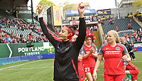 Portland, OR - Saturday April 29, 2017: Nadia Nadim after a regular season National Women's Soccer League (NWSL) match between the Portland Thorns FC and the Chicago Red Stars at Providence Park.