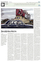 die tageszeitung taz (German daily) on the separatist conflict in Eastern Ukraine, 12.2014.<br /> Picture: Arturas Morozovas