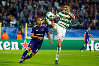 ANDERLECHT, BELGIUM - SEPTEMBER 27 : Nicolae Stanciu midfielder of RSC Anderlecht and Mikael Lustig defender of Celtic FC  during the Champions League Group B  match between RSC Anderlecht and Celtic FC on September 27, 2017 in Anderlecht, Belgium, 27/09/2017 <br /> Foto Photonews/Panoramic