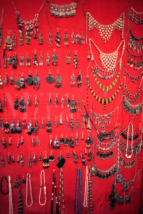 Israel Muslim jewelry in Old Jerusalem market Israel