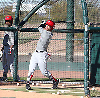 Chase Davis participates in the 2020 MLB Dream Series on January 17-20, 2020 at the Los Angeles Angels training complex in Tempe, Arizona (Bill Mitchell)
