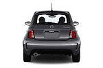 Straight rear view of 2019 Fiat 500 Pop 3 Door Hatchback Rear View  stock images