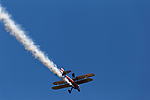 Wingwalker at an air show, Owls Head, Miane, USA