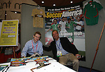 18 January 2008: SoccerAmerica magazine's Circulation Director Sergei Kogut (l) and Executive Editor Mike Woitalla (r). The 2008 National Soccer Coaches Association of America's annual convention was held at the Convention Center in Baltimore, Maryland.