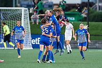 Boston, MA - Friday August 04, 2017: Boston Breakers celebrate Rosie White's goal during a regular season National Women's Soccer League (NWSL) match between the Boston Breakers and FC Kansas City at Jordan Field.