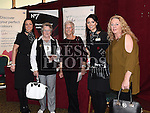 Shauna Connell and Niamh Andrews from No7 Cosmetics with Anna Sharkey, Caroline O'Brien and Kathleen O'Sullivan at the NECRET Cancer day at City North Hotel. Photo:Colin Bell/pressphotos.ie