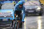 Bakhtiyar Kozhatayev (KAZ) Astana in action during Stage 1, a 14km individual time trial around Dusseldorf, of the 104th edition of the Tour de France 2017, Dusseldorf, Germany. 1st July 2017.<br /> Picture: Eoin Clarke | Cyclefile<br /> <br /> <br /> All photos usage must carry mandatory copyright credit (&copy; Cyclefile | Eoin Clarke)