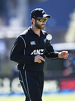 Kane Williamson.<br /> New Zealand Black Caps v England, ODI series, University Oval in Dunedin, New Zealand. Wednesday 7 March 2018. &copy; Copyright Photo: Andrew Cornaga / www.Photosport.nz