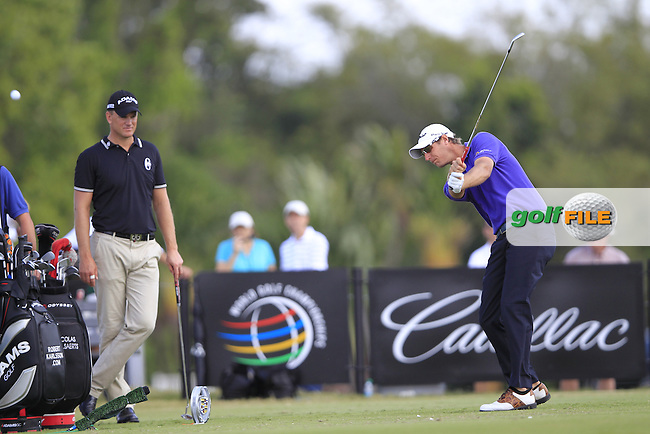 Nicolas Colsaerts (BEL) tees off on the 4th tee during Sunday's Final Round of the WGC Cadillac Championship at TPC Blue Monster, Doral Golf Resort & Spa, Miami Florida, 11th March 2012 (Photo Eoin Clarke/www.golffile.ie)