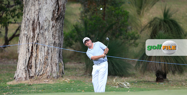 Damien McGrane (IRL) on the 11th during Round 4 of the ISPS HANDA Perth International at the Lake Karrinyup Country Club on Sunday 26th October 2014.<br /> Picture:  Thos Caffrey / www.golffile.ie
