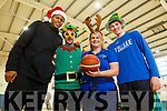 Jordon Evans, Raul Venzel, Sarah Dinan and Daire Kennelly enjoying the Tralee Imperials Christmas Basketball Marathon in Mercy Mounthawk on Saturday.