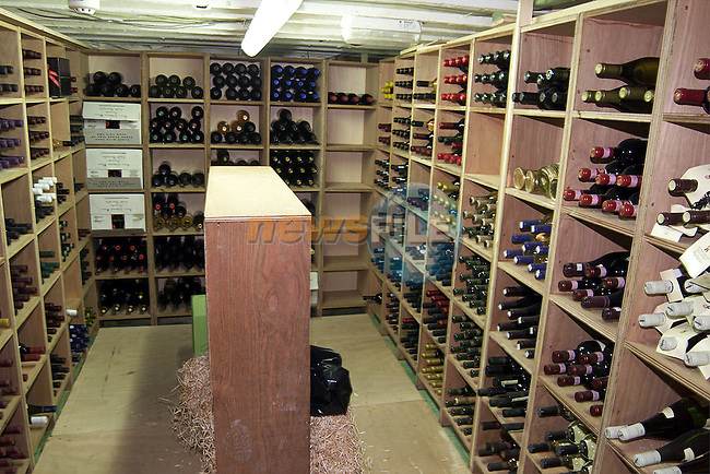 The wine cellar in Peter Matthews Off Licience..Picture: Paul Mohan/Newsfile