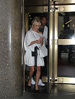 NEW YORK, NY - June 06: Pamela Anderson seen leaving Meghan Kelly Today in New York City on June 06, 2018.