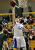 Steven Torre #12 of Kellenberg attempts to score off his own rebound during the NSCHSAA varsity boys basketball semifinals against Holy Trinity at LIU Post on Sunday, Feb. 28, 2016. He scored 23 points in Kellenberg's 55-49 win.