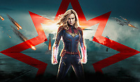 Promotional art with Brie Larson.<br /> Captain Marvel (2019) <br /> *Filmstill - Editorial Use Only*<br /> CAP/RFS<br /> Image supplied by Capital Pictures