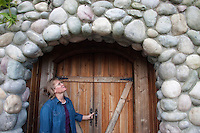 "Kelli Estrella stands in the doorway of Cave #2 at the Estrella Family Creamery in Montesano,Wash.  on November 4, 2010.  ""Help me out. Don't just try and kill me."" she says of her frustration in dealing with the the Food and Drug Administration.  The FDA ordered the Estrella Family Creamery in Montesano,Wash.  to stop processing cheeses after it found listeria bacteria on some of the cheeses this year.  The family says they have made many renovations on the farm and the bacteria is only found on the soft cheese, not everything.  They believe they should be allowed to resume making cheese and sell the hard cheeses they have already made at the facility.  The creamery is one of Washington's most famous artisan cheesemakers.  (photo credit Karen Ducey). ."