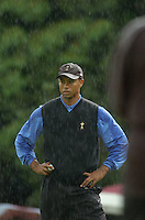 Ryder Cup K Club Straffin Co Kildare..American Ryder Cup Team player Tiger Woods on the 17th green during the morning fourball session of the second day of the 2006 Ryder Cup at the K Club in Straffan, County Kildare, in the Republic of Ireland, 23 September, 2006..Photo: Barry Cronin/ Newsfile.