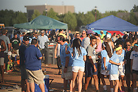Piscataway, NJ - Saturday Aug. 27, 2016: Fans prior to a regular season National Women's Soccer League (NWSL) match between Sky Blue FC and the Chicago Red Stars at Yurcak Field.