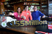 21-9-2017:  Mary Murphy, Post Mistress, Rerrin Post Office on Bere Island in County Cork pictured in her shop with Edel Murphy and Anne Marie Harrington on Thursday after she sold a 500,000 Euro Millions Plus ticket and looking forward to the massive &euro;155,000,000 Euro Millions this weekend.<br /> Photo: Don MacMonagle<br /> <br /> Issued on behlf of The National Lottery