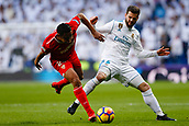 9th December 2017, Santiago Bernabeu, Madrid, Spain; La Liga football, Real Madrid versus Sevilla; Jose I Fernandez Iglesias of Real Madrid Luis Muriel of Sevilla FC, in action