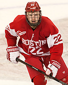 Tommy Kelley (BU - 22) - The visiting Boston University Terriers defeated the Boston College Eagles 3-0 on Monday, January 16, 2017, at Kelley Rink in Conte Forum in Chestnut Hill, Massachusetts.