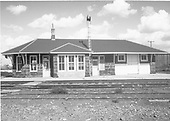 D&amp;RGW Antonito depot in the early fifties.  A trackside view.<br /> D&amp;RGW  Antonito, CO  ca. 1950-1955