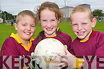 Duagh team: Members of the Duagh Under 10s who took part in the Jim Corridon Tournament at Frank Sheehy Park last Sunday were John Dwyer, Margaret Walsh and Eoin Buckley.   Copyright Kerry's Eye 2008
