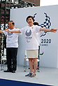 Tokyo governor Yuriko Koike alongside organizers and Paralympians work out during the 3 Years to Go! ceremony for the Tokyo 2020 Paralympic games at Urban Dock LaLaport Toyosu on August 25, 2017. The Games are set to start on August 25th 2020. (Photo by Rodrigo Reyes Marin/AFLO)